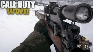 Call of Duty WW2 Stealth Sniper Mission Gameplay Veteran