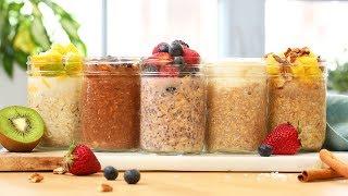 5 NEW Overnight Oatmeal Recipes