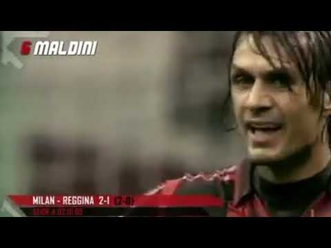 "Paolo Maldini Top 10 Goal The Best Defender ""Ac Milan Legend"""