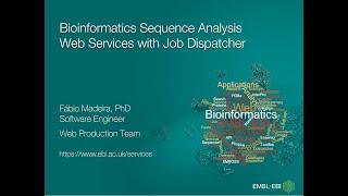 Servicios web de análisis de secuencias bioinformáticas con Job Dispatcher