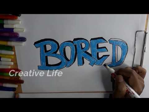 Cara Membuat Grafiti 3d Keren Di Kertas Dari Kata Bored Kaskus