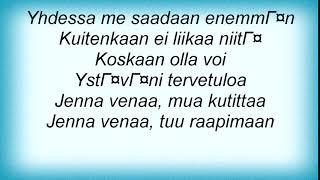 Apulanta - Jos Tahdot Niin Lyrics