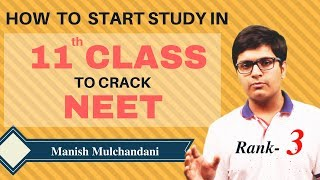 NEET Preparation Tips for Beginners after 10th class Result  | Rank 3 | Manish - Indore Part-1