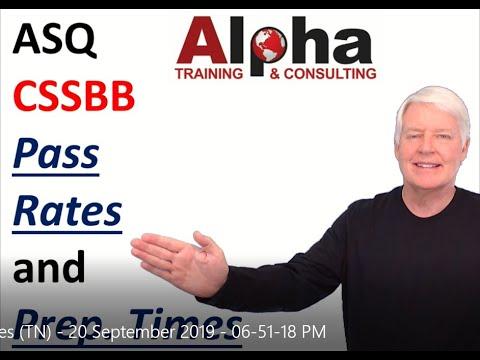 ASQ CSSBB Pass Rates and Time Estimates - YouTube