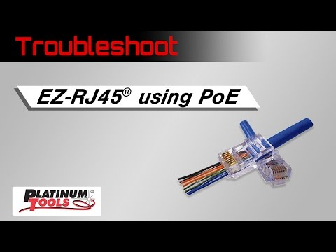 Terminating EZ-RJ45 for PoE