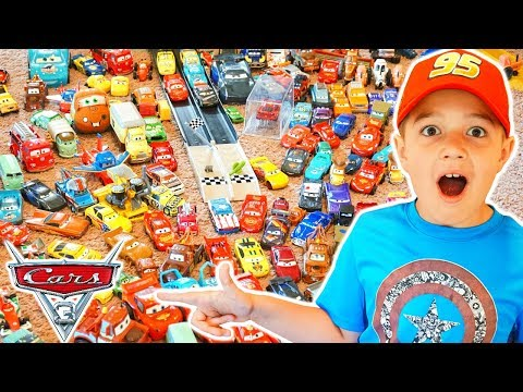 Disney Pixar Cars Collection Lightning Mcqueen Story Sets Cars 3 Mack Hauler Movie Toys!