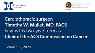 Newswise:Video Embedded cardiothoracic-surgeon-dr-timothy-w-mullett-is-the-new-chair-of-the-commission-on-cancer-of-the-american-college-of-surgeons