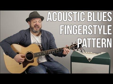 Acoustic Blues Guitar Lesson - Fingerstyle Pattern For Acoustic Blues