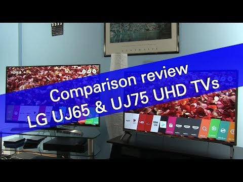 LG UJ65 and UJ75 UHD 4K TV comparison review