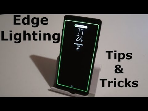 Edge Lighting Tutorial & Customization | Note8, Galaxy S8 & GS8+