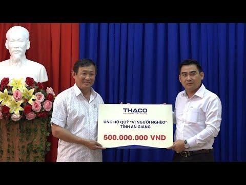Công ty Cổ phần ôtô Trường Hải hỗ trợ 500 triệu đồng tặng quà Tết cho người nghèo