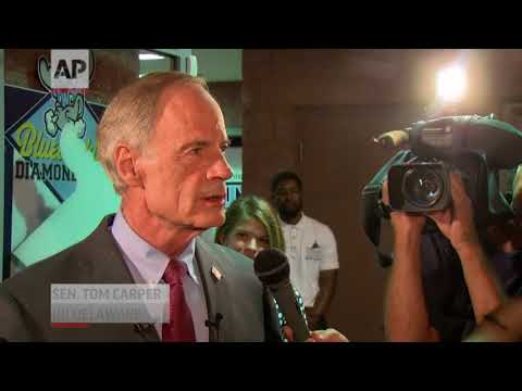 Longtime Democratic U.S Senator Tom Carper of Delaware easily fended off a Democratic primary challenge from a political newcomer Thursday. Carper will face Republican Rob Arlett, President Trump's former state campaign chair. (Sept. 7)