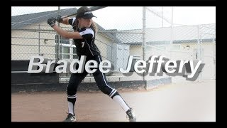 2020 Bradee Jeffery Second Base and Outfield Softball Skills Video