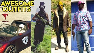 GTA Online 20+ AWESOME OUTFITS! (Fortnite, SpaceX Starman, Halo Spartan & More)