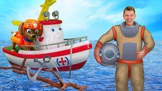 Развивающее видео для малышей про игрушки из мультиков Элаяс и Щенячий Патруль. Кто живет под водой?