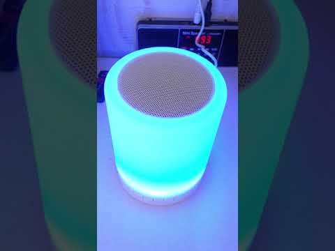 LED Touch Lamp Bluetooth Speaker, Wireless HiFi Speaker Light, USB Rechargeable Portable with TWS