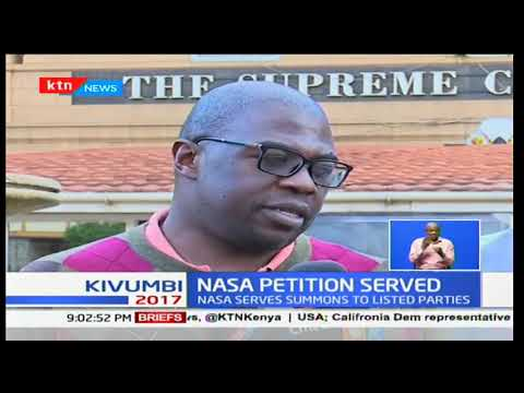 NASA petition served : IEBC, Wafula Chebukati,Uhuru Kenyatta to respond