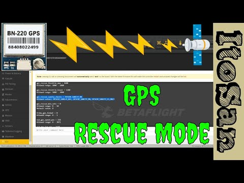 Banggood GPS BN-220 setting and GPS Rescue Mode setup