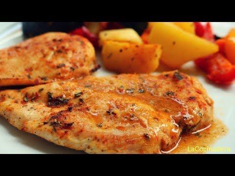 Receta: Cena Completa: Pechugas de Pollo al horno con Verduras - LaCocinadera