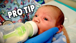 HOW TO HOLD A BOTTLE (When Feeding a Newborn Baby) | Dr. Paul