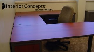 Interior Concepts | U-Shaped Office Desk Layout, Opt. 1