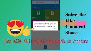 Get 45gig and Ghs45 free Talktime on Vodafone GH link in the description.