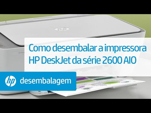 Como desembalar a impressora HP DeskJet da série 2600 All-in-One