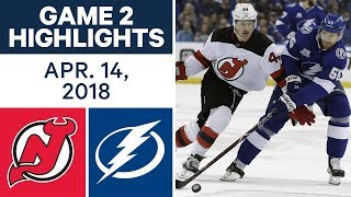 NHL Highlights | Devils vs. Lightning, Game 2 - Apr. 14, 2018