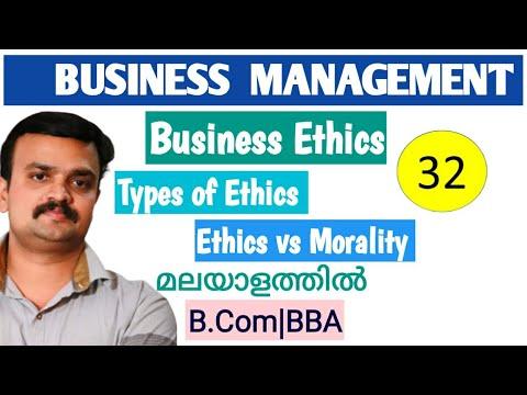 Business Management Business Ethics Types Of Ethics Ethics and Morality Malayalam