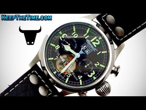 Ingersoll IN4506BKGR Bison No. 18 Watch (HD Video Review)