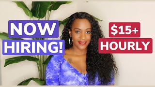 $15 Hourly Work From Home Job!