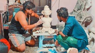 Making Of Paper Ganesha Idol | Ganesh Murti Making At