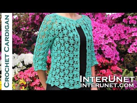 Freeform Crochet - Crochet lace summer top - front tie cardigan crochet  pattern bd41d0e12b3