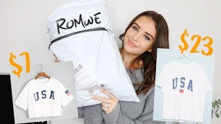 HONEST ROMWE TRY-ON HAUL | Jess Conte