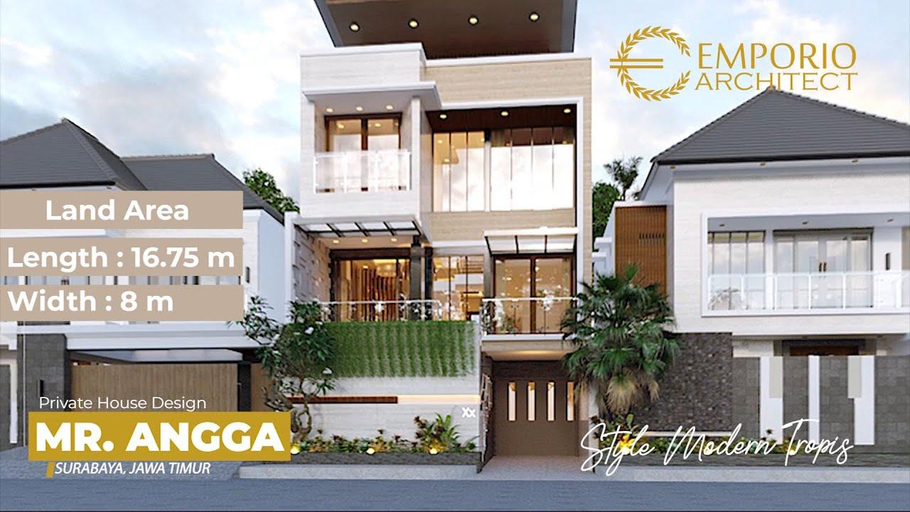 Video 3D Desain Rumah Modern 3 Lantai Bapak Angga di Surabaya, Jawa Timur