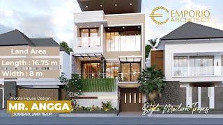 Video Desain Rumah Modern 3 Lantai Bapak Angga di  Surabaya, Jawa Timur