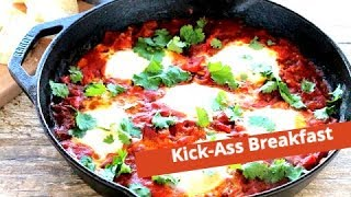 Best Breakfast Recipe - Shakshuka - Eggs, Tomato Sauce, Vegetables