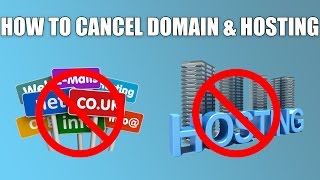How to cancel & delete domain name & Web Hosting