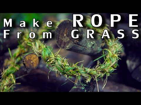 How To Easily Turn Blades Of Grass Into A Long Rope