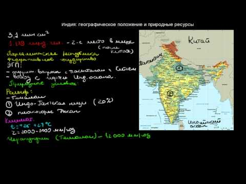 472  Индия географическое положение и природные ресурсы