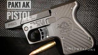 First Shots!  Heizer Defense 7.62x39 AK Pocket Pistol