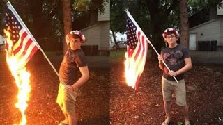 Illinois Man Arrested For Burning American Flag