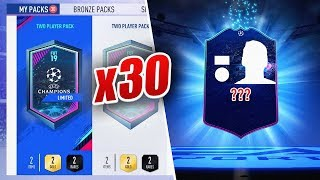 INSANE CHAMPIONS LEAGUE WALKOUT! - 30 x 2 PLAYER PACKS - FIFA 19 Ultimate Team
