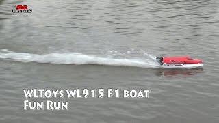 """Катер на радиоуправлении WL Toys WL915 F1 High Speed Boat бесколлекторный (красный) от компании Интернет-магазин """"Domino"""" - видео"""