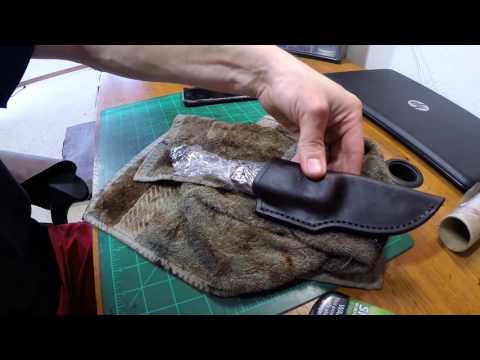 Video Leather care + Make your own conditioner. WolfeCustoms shop #022