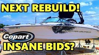 Next Boat Rebuild? Copart Walk Around Crazy Bids Ruin The Day