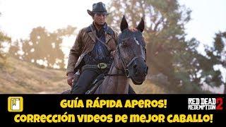 Guía aperos para el caballo! Corrección vídeo mejores caballos! RDR2!