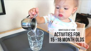 MONTESSORI AT HOME: Activities for 15-18 Month Olds