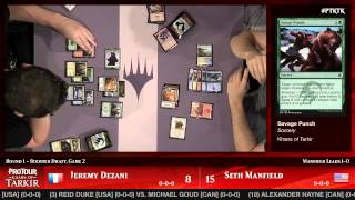 Pro Tour Khans of Tarkir Round 1 (Draft): Jeremy Dezani vs. Seth Manfield