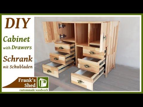 DIY Möbel selber bauen   Schrank mit Schubladen aus Holz   Anleitung   🔥 Franks Shed 🔥